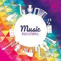 Icon set of Music instrument. vector graphic Royalty Free Stock Photo