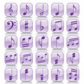 Icon set-Music notes Stock Photo