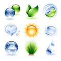 Icon set - Nature Royalty Free Stock Images