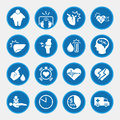Icon set of obesity related diseases