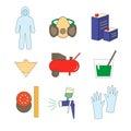 Icon set painter's equipments