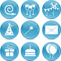 Icon set for party Stock Photography