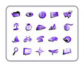 Icon Set Purple Royalty Free Stock Image
