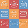 Icon Set of Quotation. Speech Bubble templates Royalty Free Stock Photo