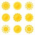 Icon-set of sun. Stock Photo