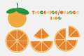 Icon set of Tangerine and orange graphic with circular shape design.