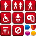 Icon set toilet Stock Photo