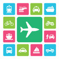 Icon set traffic on isolated white background Royalty Free Stock Photo