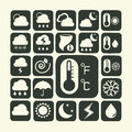 Icon set of weather Royalty Free Stock Images