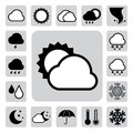 Icon set of weather ,Illustration Stock Photo