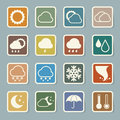 Icon set of weather illustration eps Royalty Free Stock Images