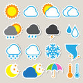 Icon set of weather illustration eps Stock Image