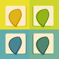 Icon set for web and mobile application modern flat Stock Photos