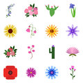 Icon set on a white background icons floret vector icon floret Royalty Free Stock Images