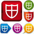 Icon shield Royalty Free Stock Images