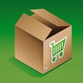 Icon of shipping box Royalty Free Stock Photo