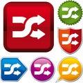 Icon shuffle Stock Images