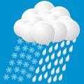 Icon of snow and rain Stock Photography