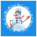 Icon snowman.