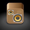 Icon for speakers dark background vector saved as eps file contains objects with transparency Royalty Free Stock Photos