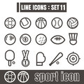 Icon sport line black Modern Style vector on white background