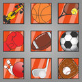 Icon sports creative design of icons Royalty Free Stock Image