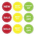 Icon sticker illustration of different stickers for sale Royalty Free Stock Image