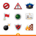 Icon sticker set - security Royalty Free Stock Photo