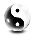 Icon tao ball representation of good and evil in sphere Royalty Free Stock Photo
