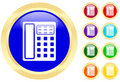 Icon of telephone Royalty Free Stock Photo