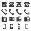Icon telephone classic to smartphone Royalty Free Stock Photo