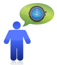 Icon thinking on time Royalty Free Stock Photo