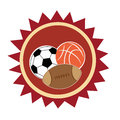 Icon of three different sports balls in an with white background Royalty Free Stock Photography