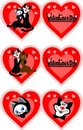 Icon to the Valentine's day Stock Images