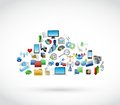 Icon tools technology cloud cloud computing illustration design over white Royalty Free Stock Image