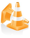 Icon traffic cone vector illustration isolated on white background Royalty Free Stock Photos
