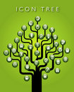 Icon tree of symbols Royalty Free Stock Photography