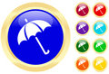 Icon of umbrella Royalty Free Stock Photo