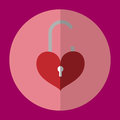 The icon is unlock the key red heart. Can be used in various tasks.