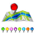 Icon vector map of the city eps with transparency Stock Image