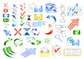 Icon vector set web design elements Royalty Free Stock Photo