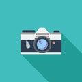 Icon vintage camera. Royalty Free Stock Photo
