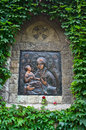 Icon of a virgin mary with christ on a church wall at kalemegdan fortress belgrade serbia Stock Photos