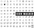 Icon washer collection washing machines washing wringing drying Royalty Free Stock Photo
