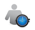 Icon and watch illustration design over a white background Royalty Free Stock Photography