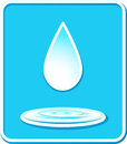 Icon with water drop and splash Royalty Free Stock Photography