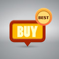 Icon with the word buy on gray background Stock Images