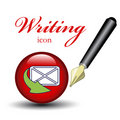 Icon for writing message Stock Image