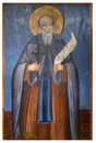 Icona antica dal monastero del panayia kera island di creta Fotografia Stock