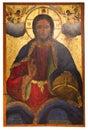 Icona antica dal monastero del panayia kera island di creta Fotografia Stock Libera da Diritti